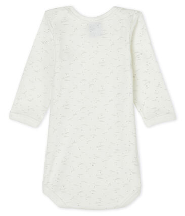 Babies' long-sleeved bodysuit Marshmallow white / Multico white