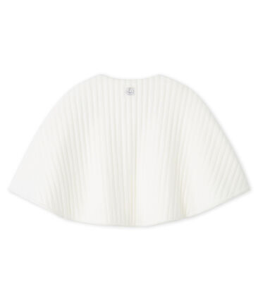 Babies' Wrap in Quilted Tube Knit Marshmallow white