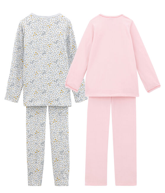 Girls' Warm Pyjamas - Set of 2 . set