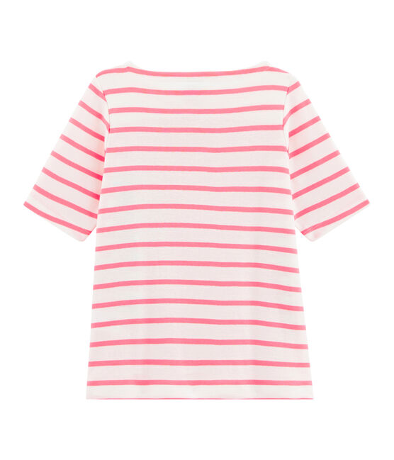 Girls' T-Shirt Marshmallow white / Cupcake pink