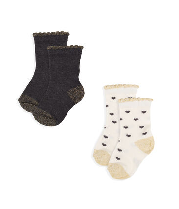 Baby Girls' Socks - 2-Piece Set
