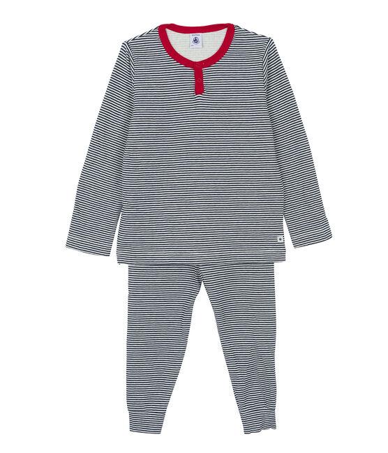 Boys' Pyjamas Marshmallow white / Smoking blue