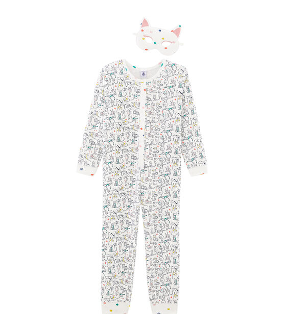 Girls' Jumpsuit Marshmallow white / Multico white