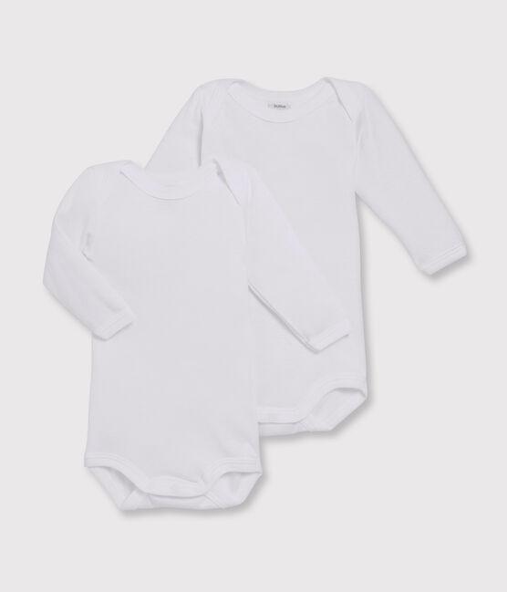 Baby Boys' White Long-Sleeved Bodysuit - 2-Piece Set Marshmallow white