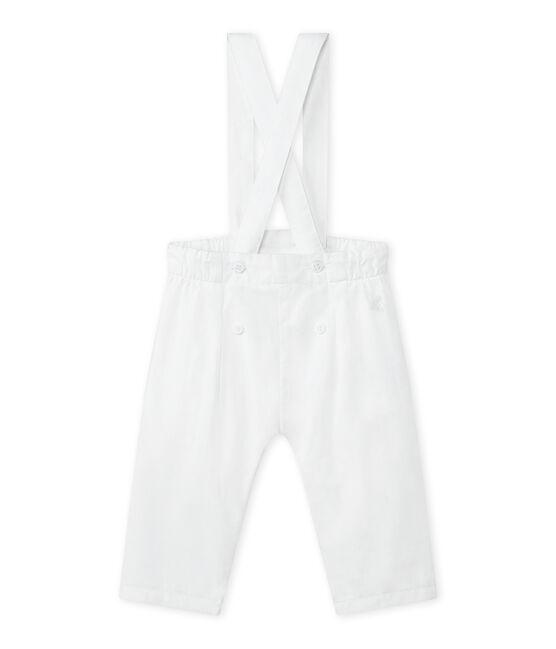 Girl's overalls Ecume white