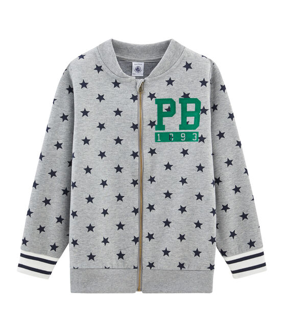 Boys' Baseball Coat Subway grey / Smoking blue