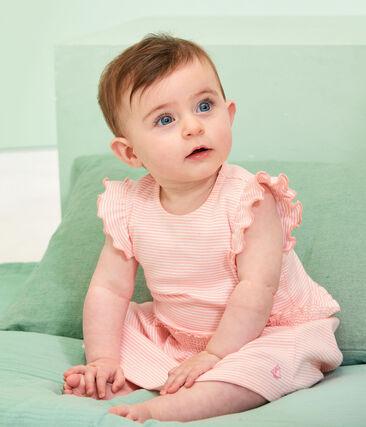 Baby Girls' Pinstriped Dress Patience pink / Marshmallow white