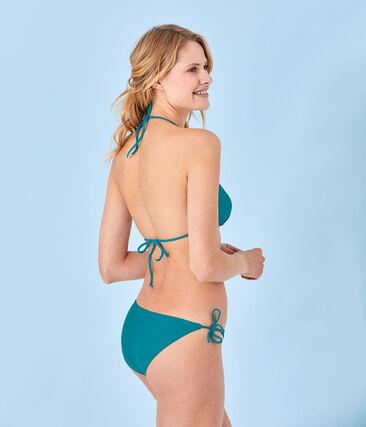 Women's plain bikini Verde green