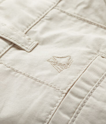 Baby boys' serge twill shorts Feta white