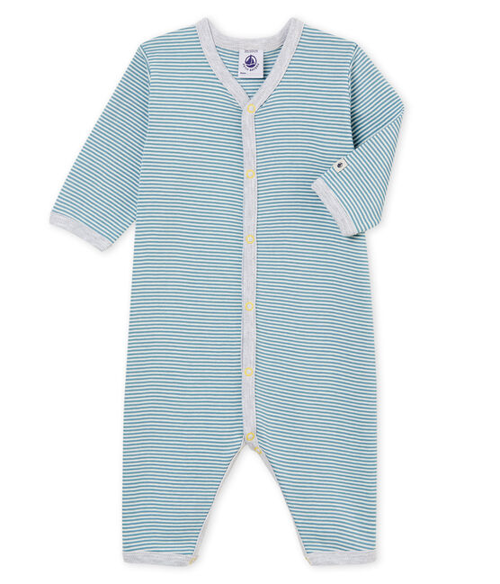 Baby Boys' Footless Sleepsuit Fontaine blue / Marshmallow white