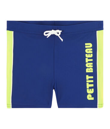 Boys' UPF 50+ Swimming Trunks Touareg blue