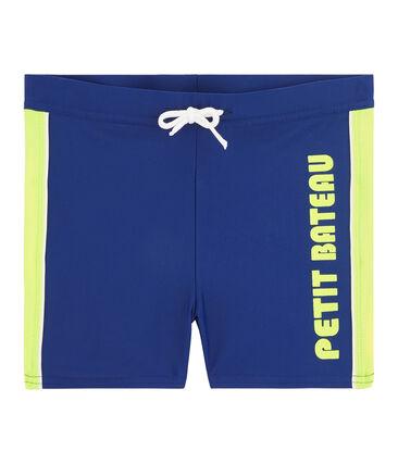 Boy's eco-friendly swim shorts Touareg blue