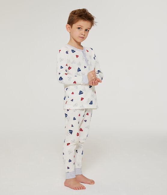 Boys' Sweatshirt Pyjamas Marshmallow white / Multico white