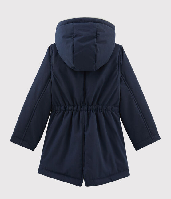 Girls' coated cotton parka SMOKING