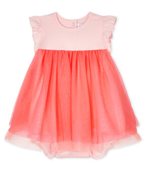 Baby Girls' Short-Sleeved Bodysuit/Dress Minois pink