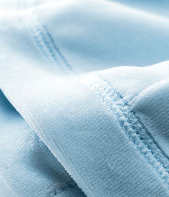 Unisex newborn baby velour bonnet Fraicheur blue