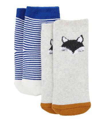 Unisex Babies' Socks - 2-Piece Set Beluga grey