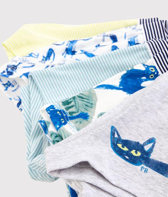 Boys' Cat Pattern Boxer Shorts - 5-Pack . set