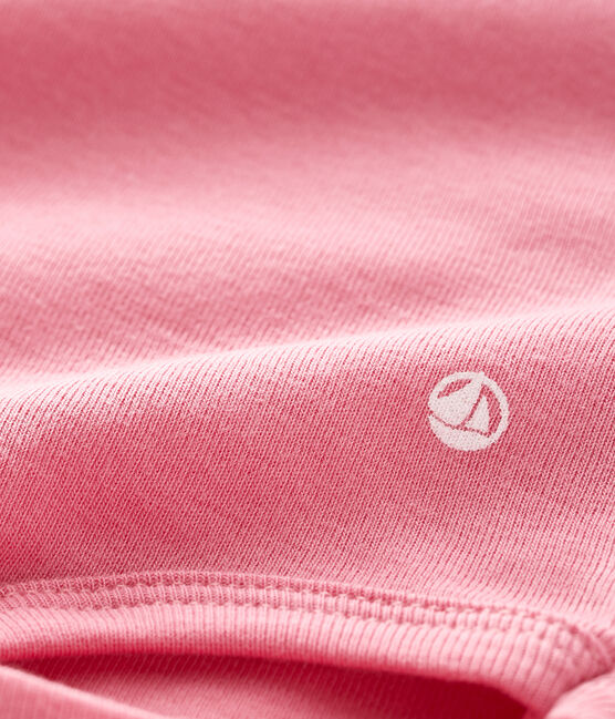 Baby's long-sleeved roll-neck bodysuit Cheek pink