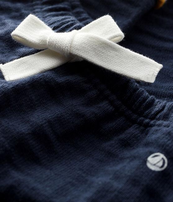 Baby boy's tubular knit trousers Smoking blue
