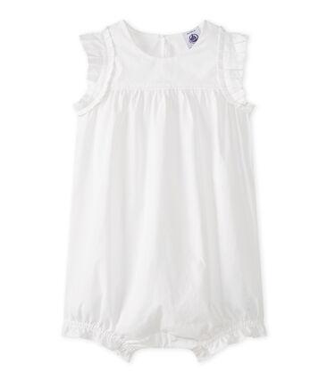 Baby Girls' Playsuit Ecume white