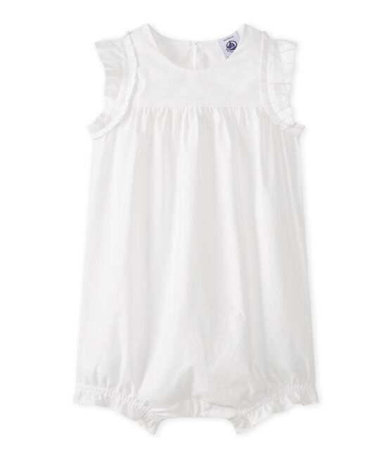 Baby Girls' Playsuit Ecume white