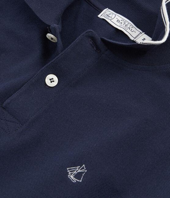 Men's Polo Shirt Smoking blue