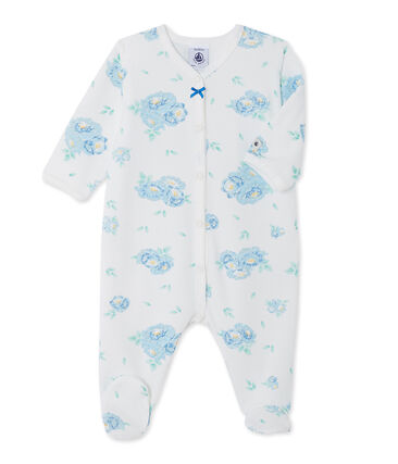 Baby girls' print velours sleepsuit