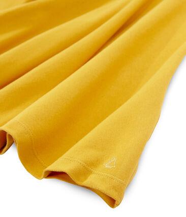 Girls' Short-Sleeved Dress Boudor yellow