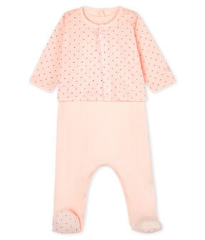 Babies' Ribbed Clothing - 2-Piece Set Fleur pink / Geisha pink