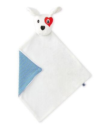 Flat dog comforter Ecume white / Multico white