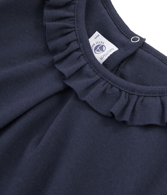 Girls' Long-Sleeved T-shirt Smoking blue