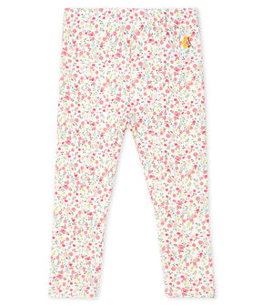 Baby Girls' Print Leggings Marshmallow white / Multico white