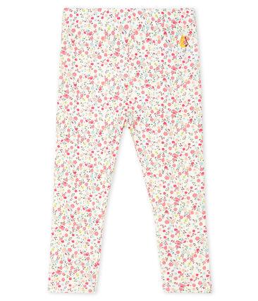 Baby Girls' Print Leggings Marshmallow white / Multico white
