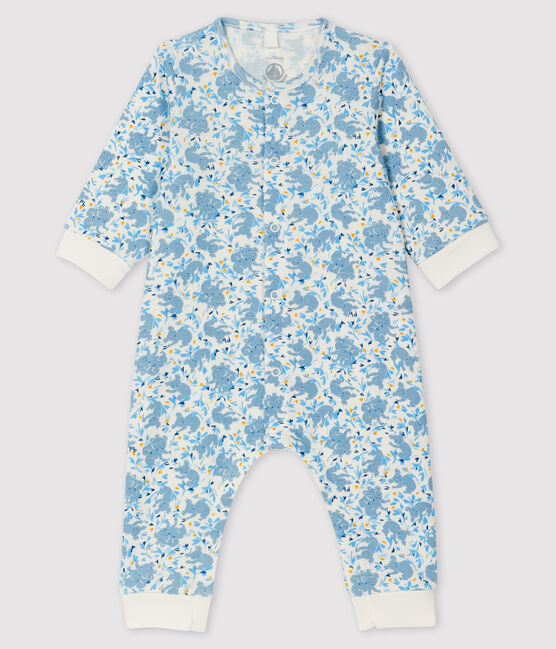 Baby Boys' Ribbed Koala Print Jumpsuit Marshmallow white / Multico white