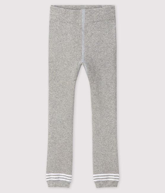 Baby's footless tights Beluga grey