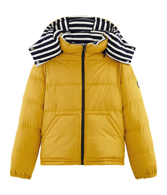 Reversible down jacket Coquille beige / Smoking blue