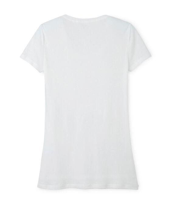 Women's light cotton tee Lait white