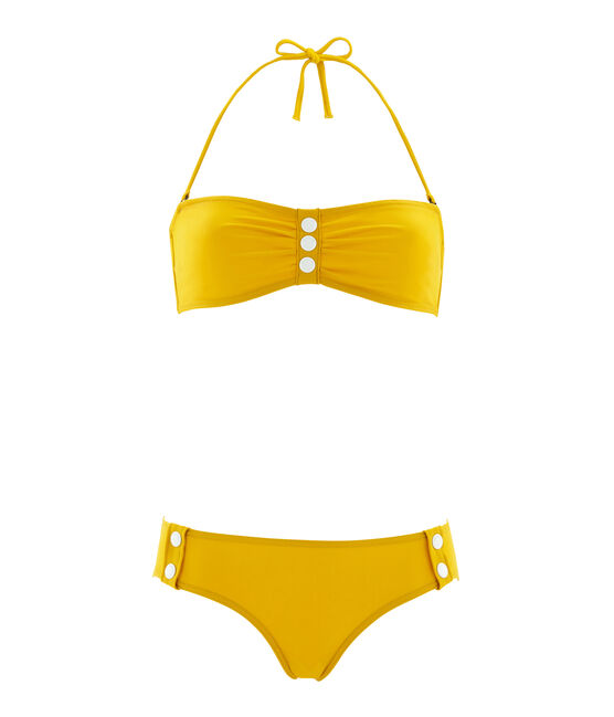 Women's 2-piece swimsuit Bamboo yellow