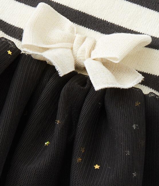 Baby Girl tutu dress Coquille beige / Capecod grey