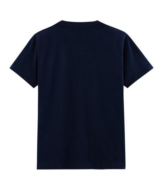 Unisex T-Shirt with Postcard Motif Haddock blue