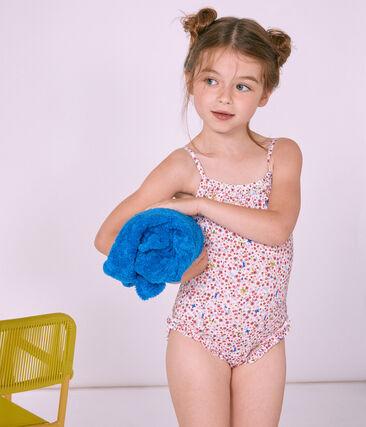 Girls' One-Piece Swimsuit Marshmallow white / Multico white