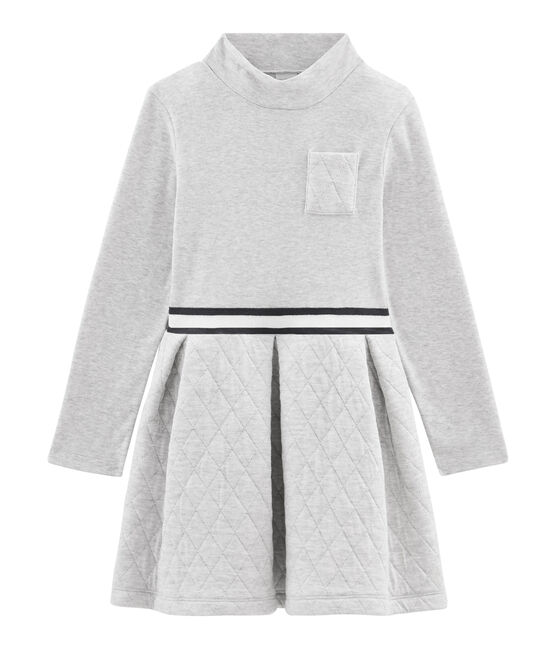 Girls' Roll-Neck Dress Beluga grey