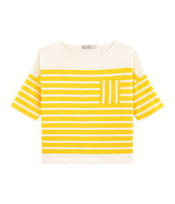 Women's Sailor Top Shine yellow / Marshmallow white