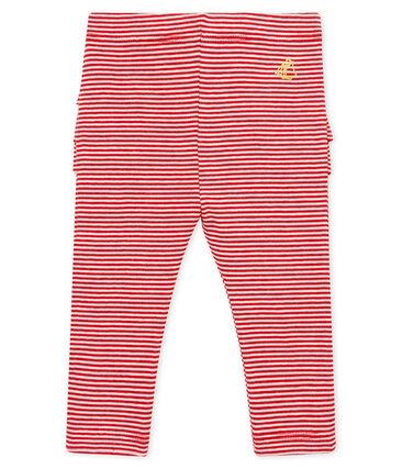 Baby girls' pinstriped leggings