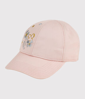 Girls' Embroidered Cap Minois pink