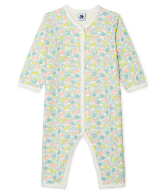 Babies' Footless Sleepsuit Marshmallow white / Multico white