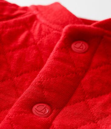 Baby boy's padded cotton tubic cardigan