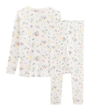 Girls' Snugfit Pyjamas Marshmallow white / Multico white
