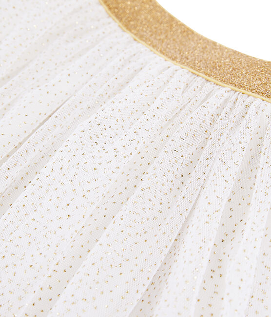 Girls' Tulle Skirt Marshmallow white / Or yellow